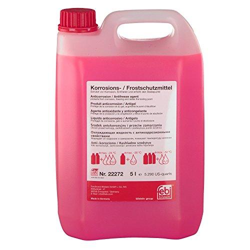 febi bilstein 22272 Frostschutzmittel G12 für Kühler (rot) 5 Liter | AUDI