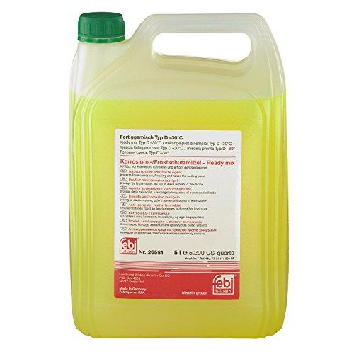 febi bilstein 26581 Frostschutzmittel für Kühler (grün) 5 Liter (Fertiggemisch -30°C) | RENAULT