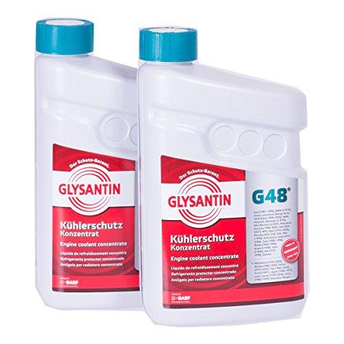 2x 1,5 L Liter BASF Glysantin® G48 Kühlerfrostschutz Frostschutzmittel Frostschutz Kühlerschutz Kühlmittel Konzentrat Kühler Frost Schutz Mittel blaugrün