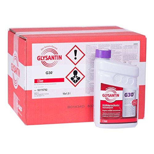 10x 1,5 L Liter BASF Glysantin® G30 Kühlerfrostschutz Frostschutzmittel Frostschutz Kühlerschutz Kühlmittel Konzentrat Kühler Frost Schutz Mittel rotviolett