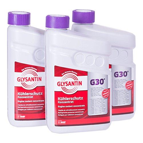 3x 1,5 L Liter BASF Glysantin® G30 Kühlerfrostschutz Frostschutzmittel Frostschutz Kühlerschutz Kühlmittel Konzentrat Kühler Frost Schutz Mittel rotviolett